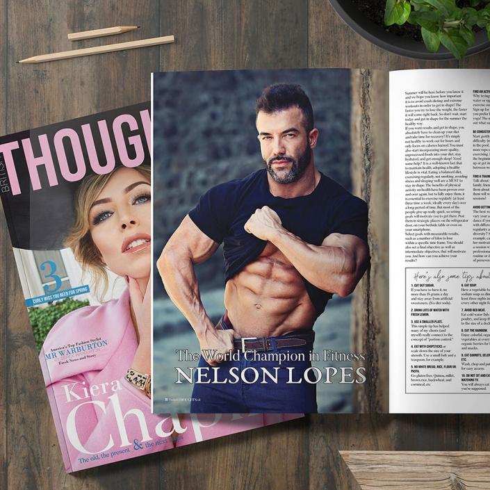 Нелсън Лопес - Нелсън Лопес - световен шампион Fitness & BodyBuilding - публикация в английското списание British Thoughts